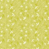 Green pattern with abstract plant. stock illustration