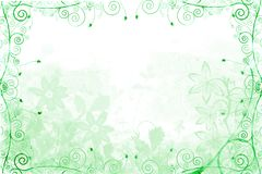 Green floral and vine frame. Illustrated green floral and vine framed background stock illustration