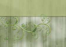 Green Floral Vine Textured Background. A soft and lovely background designed with a lovely green vine with little flowers on it. A topper as been added for your royalty free illustration