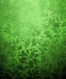 Green floral wallpaper Stock Image