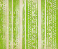 Green  floral wood carved stripes Royalty Free Stock Images
