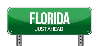 Green Florida, USA street sign Royalty Free Stock Photos