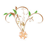 Green flower. Natural home related green leaf Royalty Free Illustration