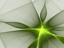 Green flower. Fractal. 3D render royalty free illustration