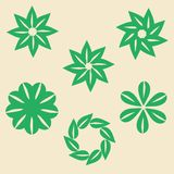Green flower abstract collection for Business Signs, Logos, Elements,Labels, Badges, vector illustration stock illustration