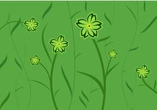 Green flower background Royalty Free Stock Photos