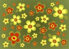 Green flower background Stock Image
