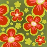 Green flower background Stock Images