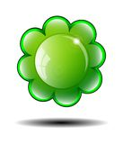 Green Flower Background. Vector illustration. Royalty Free Stock Photography