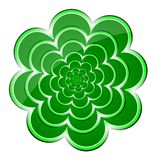 Green Flower Background. Vector illustration. Stock Images