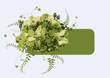 Green flower banner. This image is a vector illustration Stock Photo