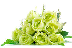 Green flower bouquet on white background Stock Images