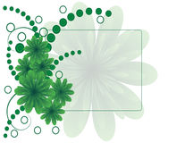 Green flower with circles Stock Photo