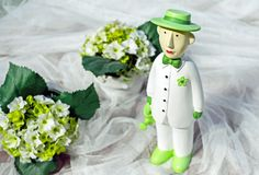 Green, Flower, Figurine, Floristry Royalty Free Stock Photography