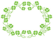 Green flower frame Stock Photography