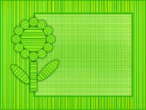 Green flower frame Royalty Free Stock Photos
