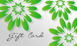 Green Flower Giftcard Stock Photos