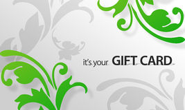 Green Flower Giftcard Royalty Free Stock Image