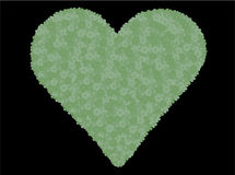 Green flower heart Royalty Free Stock Photography