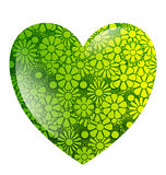 Green flower heart isolated Royalty Free Stock Photography