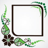 Green flower leaf frame background Stock Image