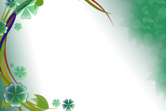 Green flower and leaves, abstract background Stock Image