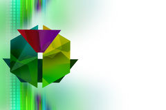 Green flower left side, abstrack background Stock Photography