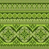 Green flower ornament Royalty Free Stock Image
