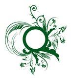Green flower pattern Stock Photography