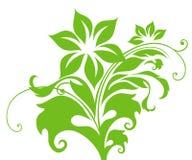 Green flower pattern Stock Photo