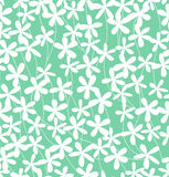 Green flower pattern Stock Image