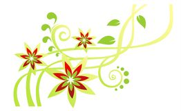 Green flower pattern Stock Images