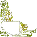 Green flower pattern and banner Royalty Free Stock Image