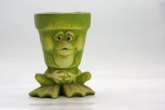 Green flower pot Stock Photos