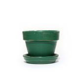 Green Flower Pot Royalty Free Stock Photo