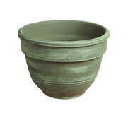 Green flower pot Royalty Free Stock Photos