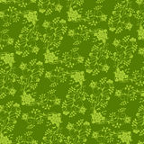 Green flower seamless background Royalty Free Stock Photos