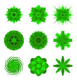 Green flower shapes Royalty Free Stock Photography