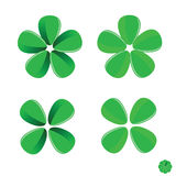 Green flower vector art illustration Royalty Free Stock Photo