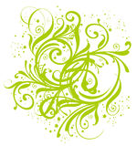 Green flower and vines pattern Stock Photo