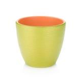 Green flowerpot royalty free stock photography