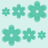 Green flowers. Green background with nice green flowers Royalty Free Stock Photos