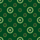 Green flowers abstract vintage background. Arabic style Indian style Stock Images