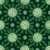 Green flowers abstract vintage background. Arabic style Indian style Royalty Free Stock Photo