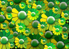 Green Flowers Background Royalty Free Stock Photos