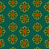 Green Flowers Background. Seamless texture Royalty Free Stock Photography
