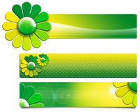 Green Flowers Banners Royalty Free Stock Photo