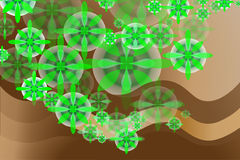 Green flowers and chocolate. Business sheet-abstraction Royalty Free Stock Photos