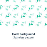 Green flowers fancy backdrop pattern. Seamless subtle flower pattern and background, vector illustration Royalty Free Stock Image