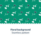 Green flowers fancy backdrop pattern. Seamless subtle flower pattern and background, vector illustration Stock Photo